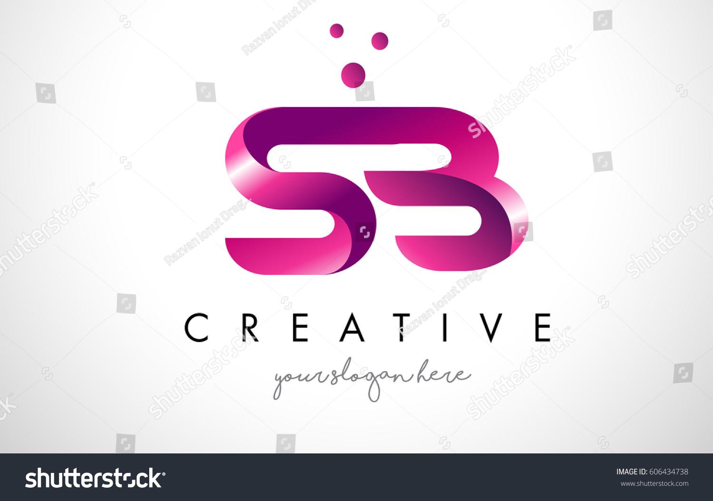 SB Letter Logo Design Template Purple Stock Vector (Royalty Free ...