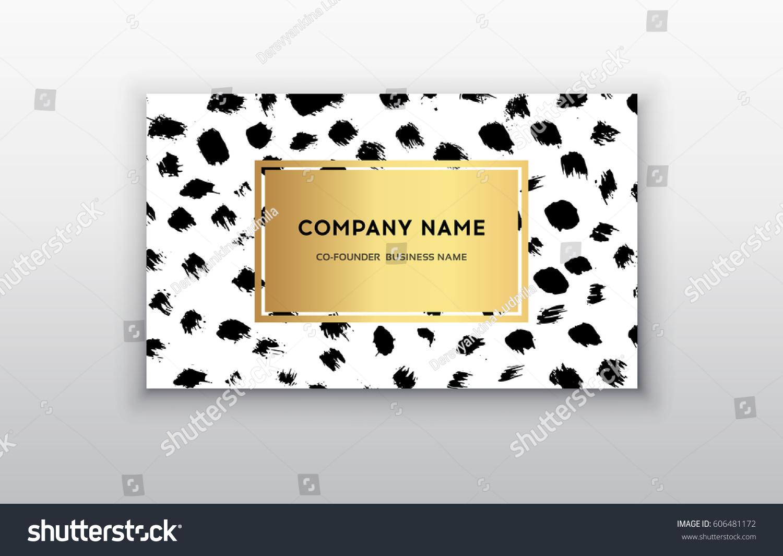 Vector gold business card templates brush stock vector 606481172 vector gold business card templates with brush stroke backgroundctor design concept for stylist magicingreecefo Images