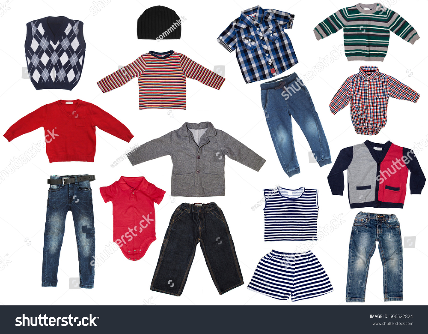 01906dab5 Fashion Modern Male Baby Clothes Collage Set Stock Photo (Edit Now ...