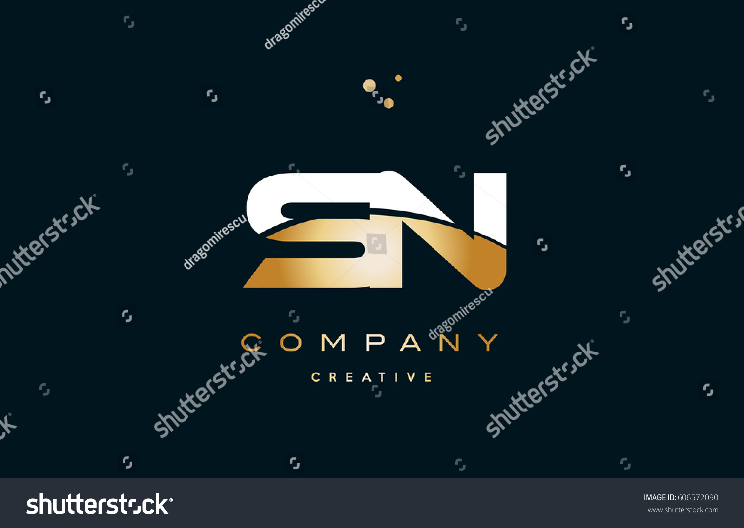 Sn s n white yellow gold stock vector 606572090 shutterstock sn s n white yellow gold golden metal metallic luxury alphabet company letter logo design vector icon biocorpaavc Image collections