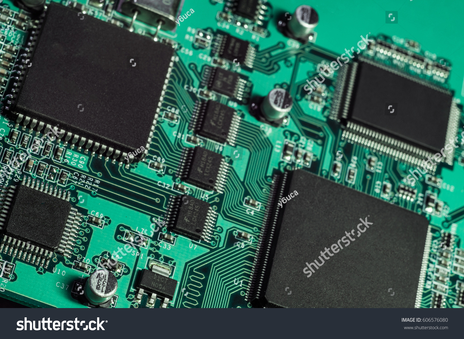 Sata And Ata Hard Disk Connector Close Up Image Ez Canvas Printed Circuit Board Stock Photo 5153818 Shutterstock