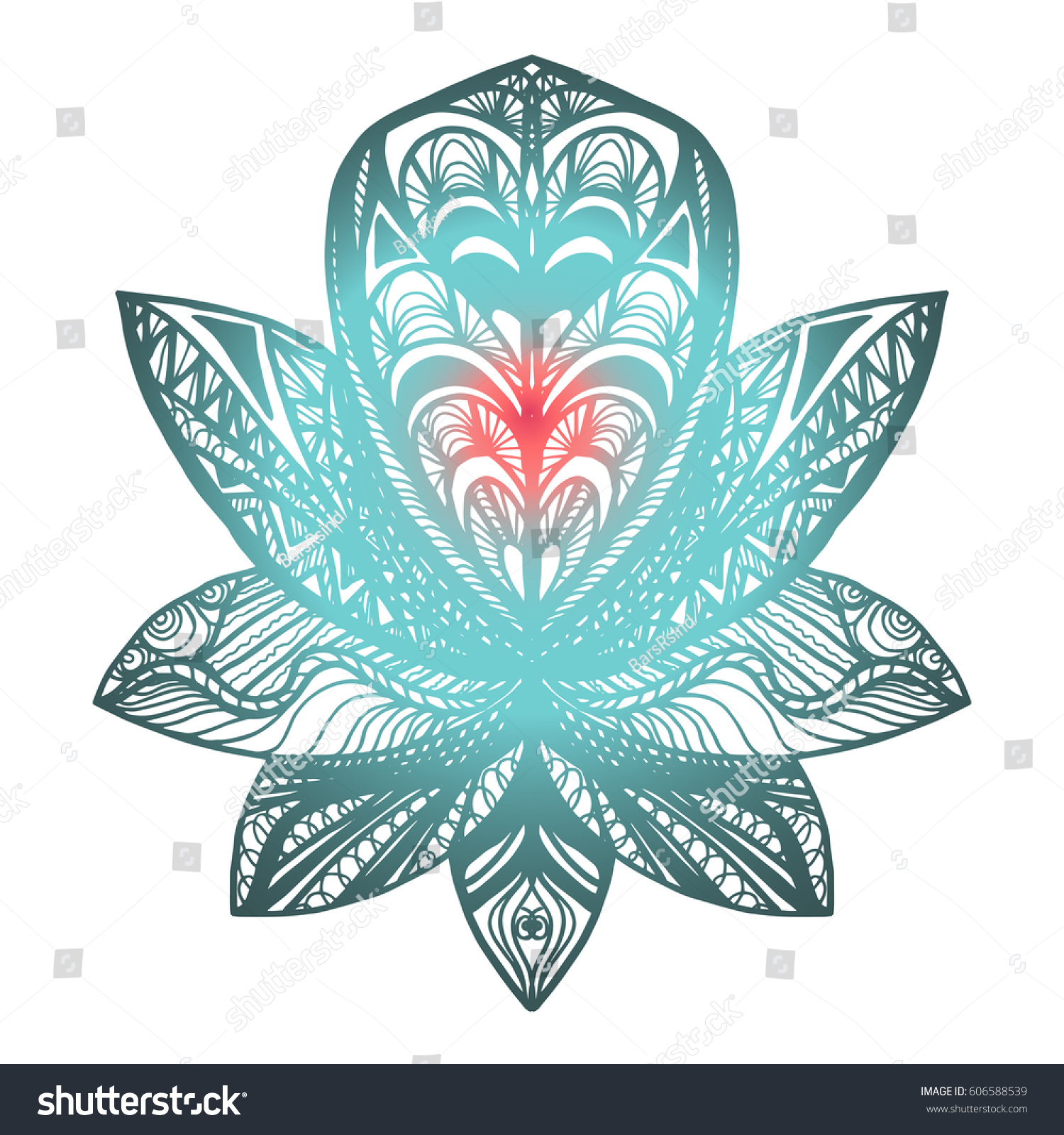 Flower lotus magic symbol print tattoo stock vector royalty free flower lotus magic symbol for print tattoo coloring bookfabric t izmirmasajfo
