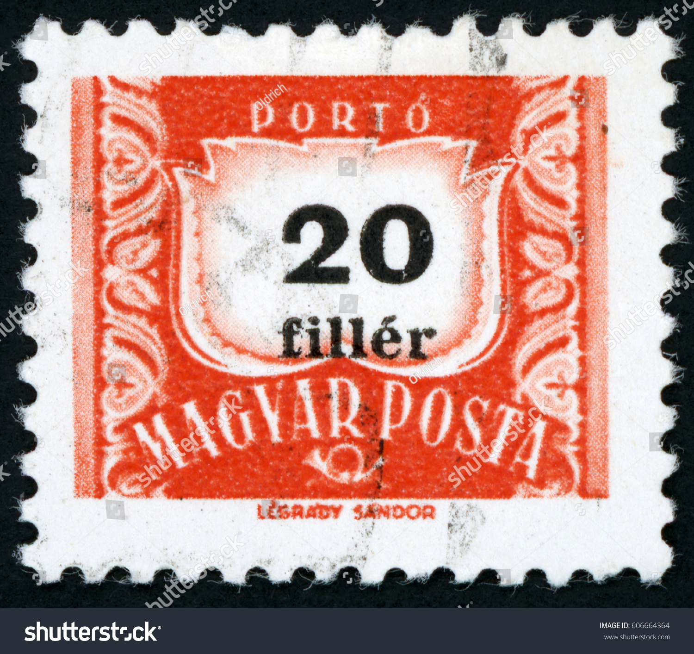 HUNGARY CIRCA 1958 Post Stamp Printed Stock Photo Edit Now