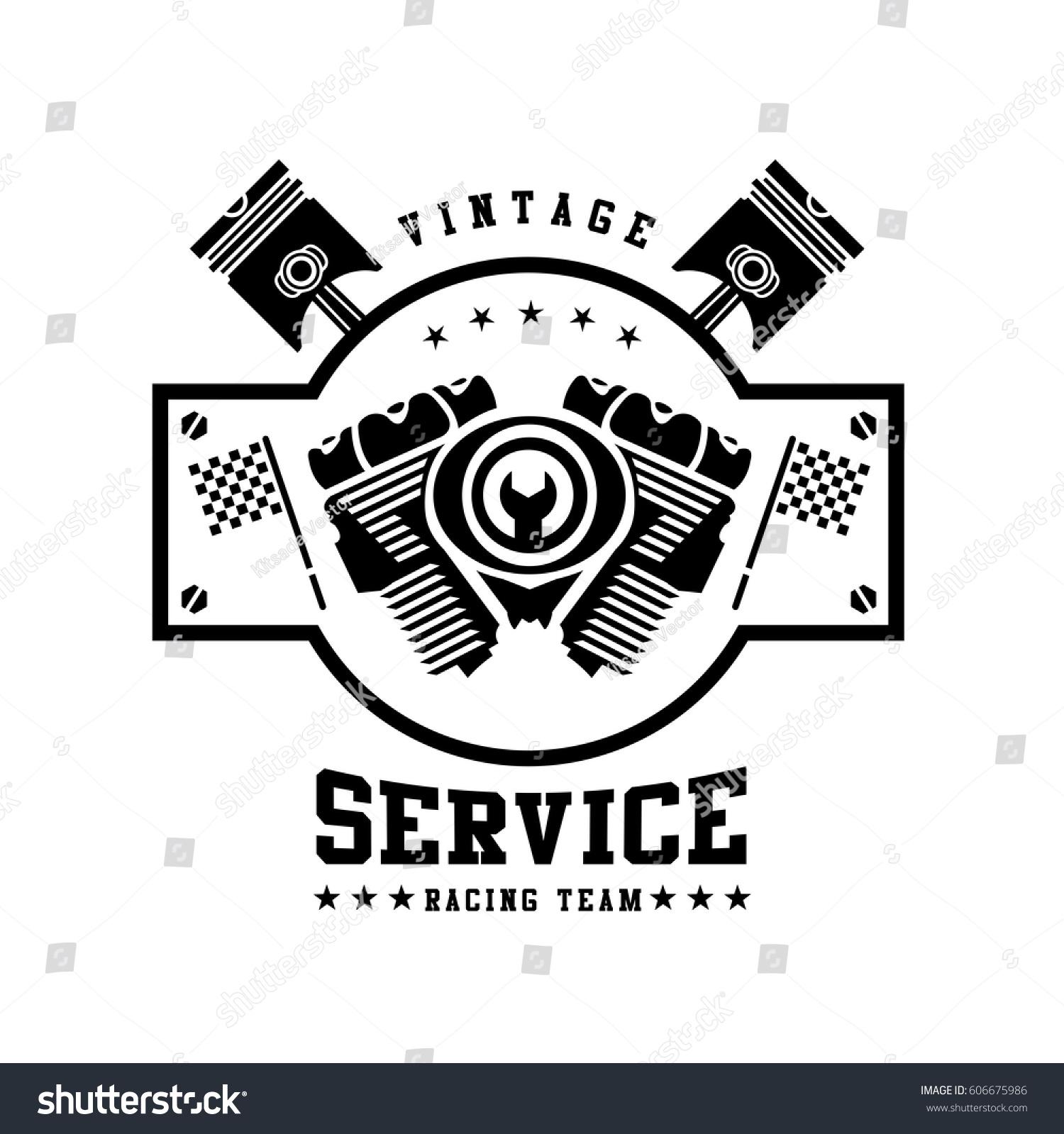 Racing badges themed logos service race stock vector 606675986 themed logos and service of the race cars and motorcycles vector biocorpaavc