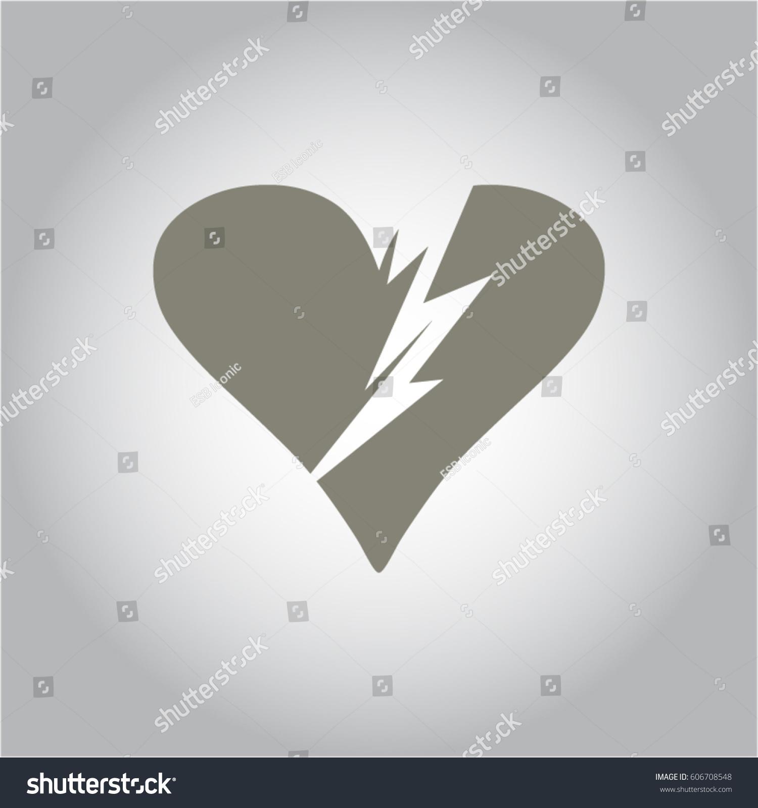 Vector illustration broken heart symbol grey stock vector vector illustration of broken heart symbol in grey color buycottarizona