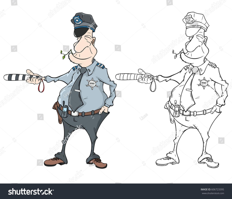 vector illustration cute police officer cartoon stock vector