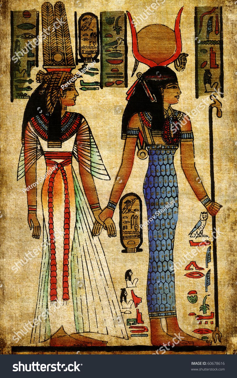 египетские рисунки на ваз