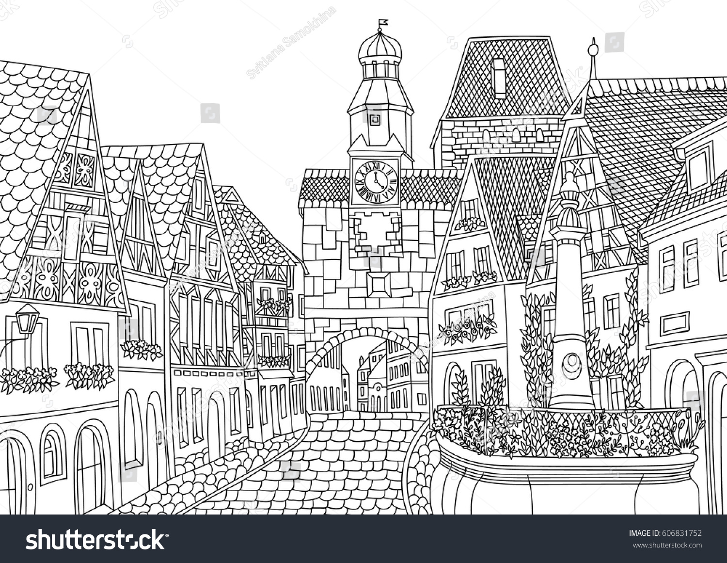 coloring luxembourg coloring page line stock vector