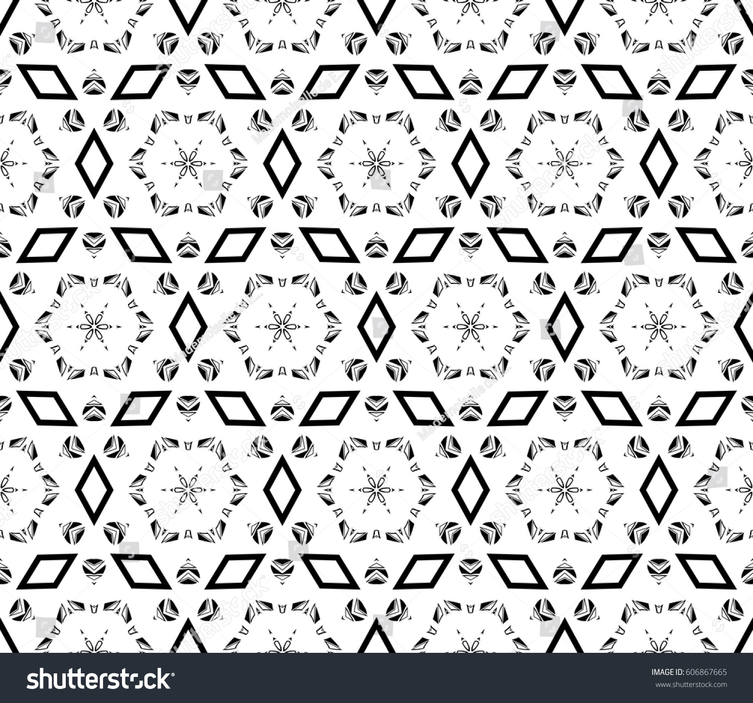 modern decorative geometric seamless pattern with square triangle elements original ornament strong style