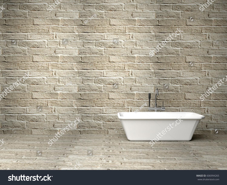 Bath Tube Room Rock Wall 3 D Stock Illustration 606994265 - Shutterstock