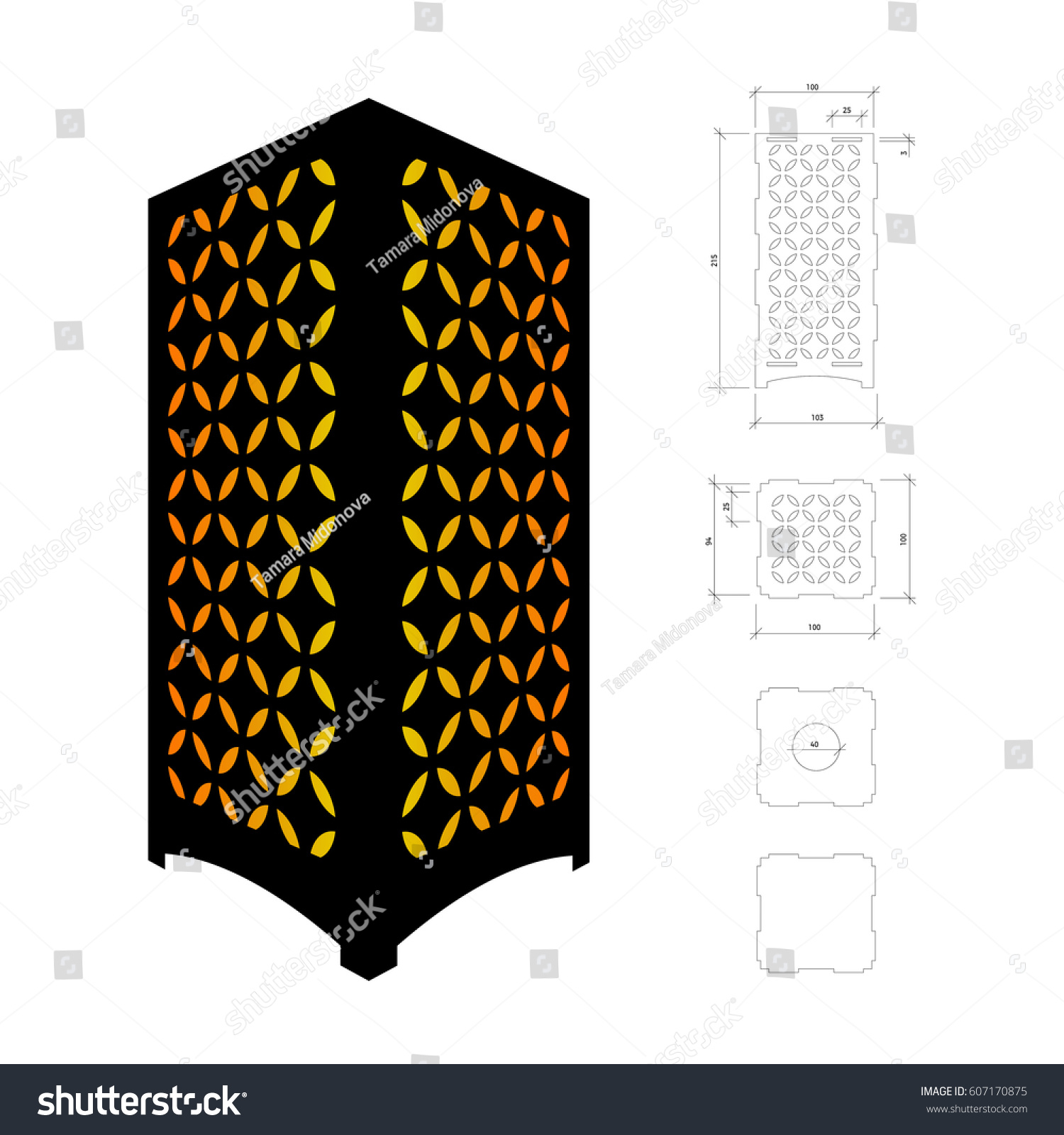 Cut out template lamp candle holder stock vector 607170875 cut out template for lamp candle holder lantern or chandelier plywood 3 mm arubaitofo Image collections