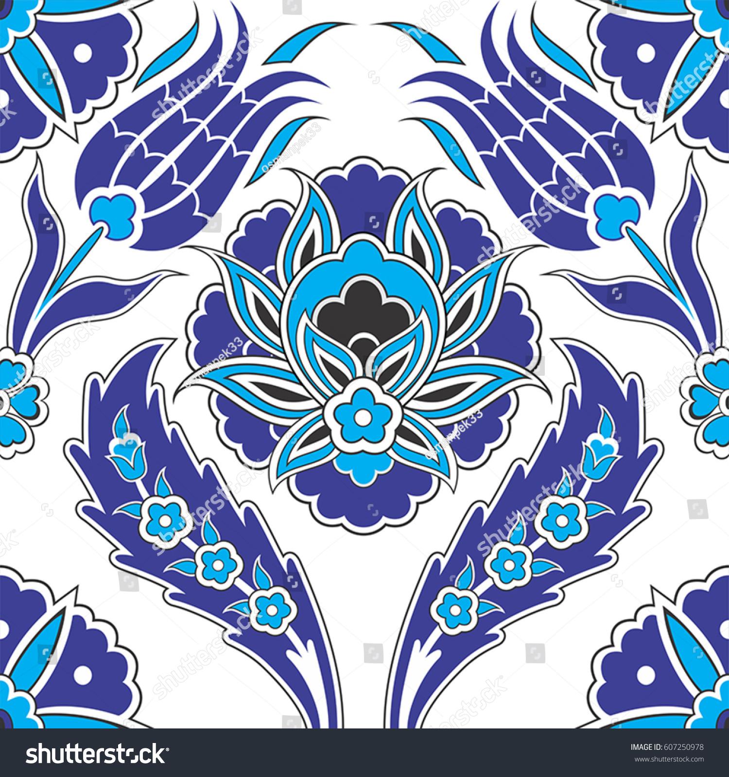 Mosaic Tile Patternislamic Motif Stock Vector 607250978 - Shutterstock