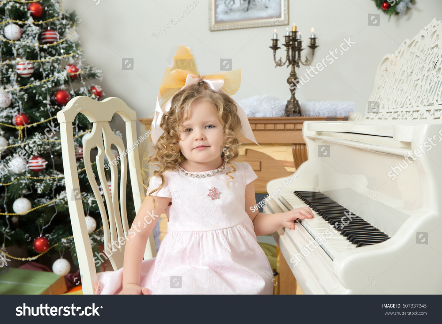 Beautiful Chubby Little Girl Long Blondcurly Stock Photo (Edit Now ...