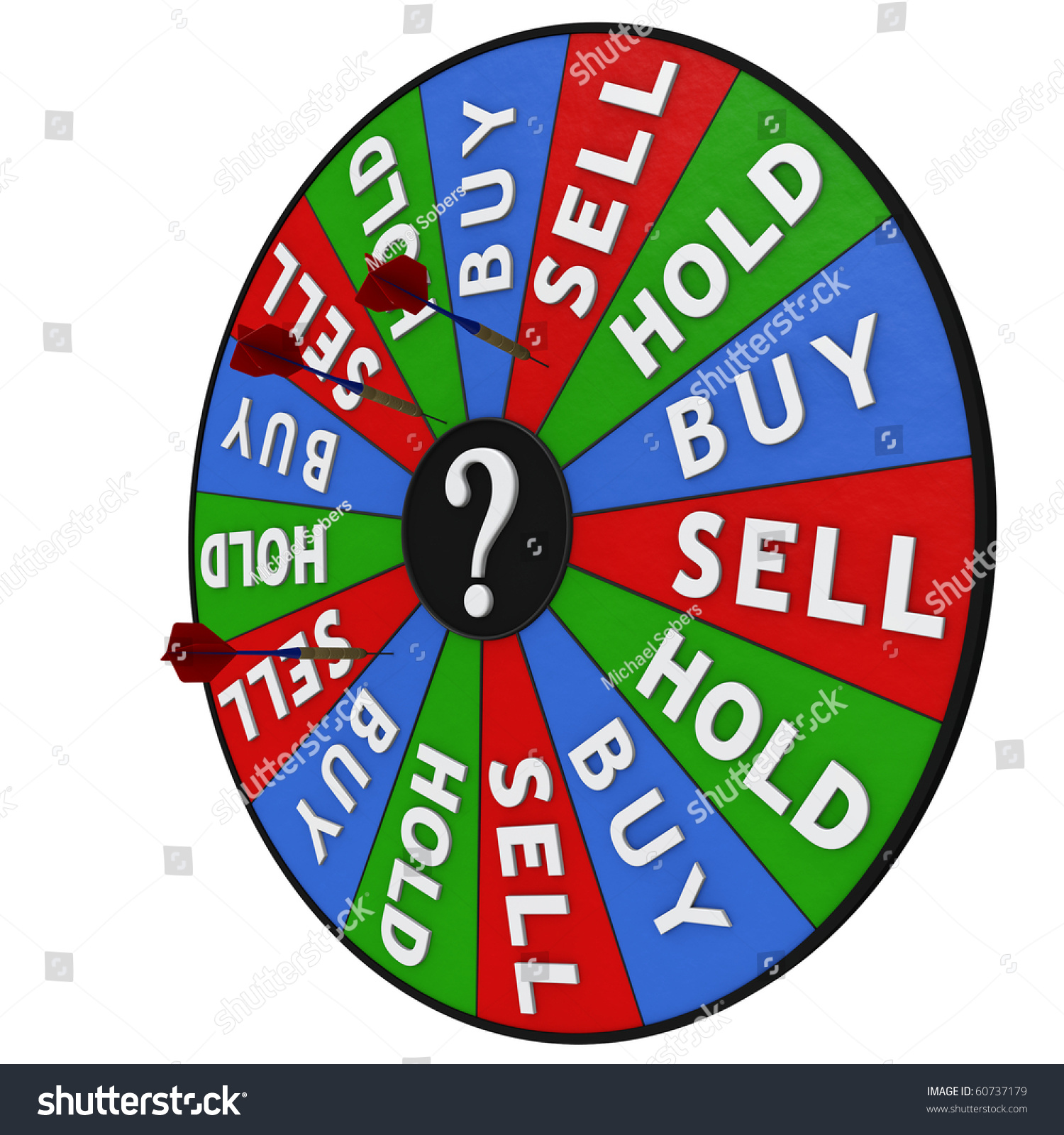 stock decision making dartboard buy sell stock