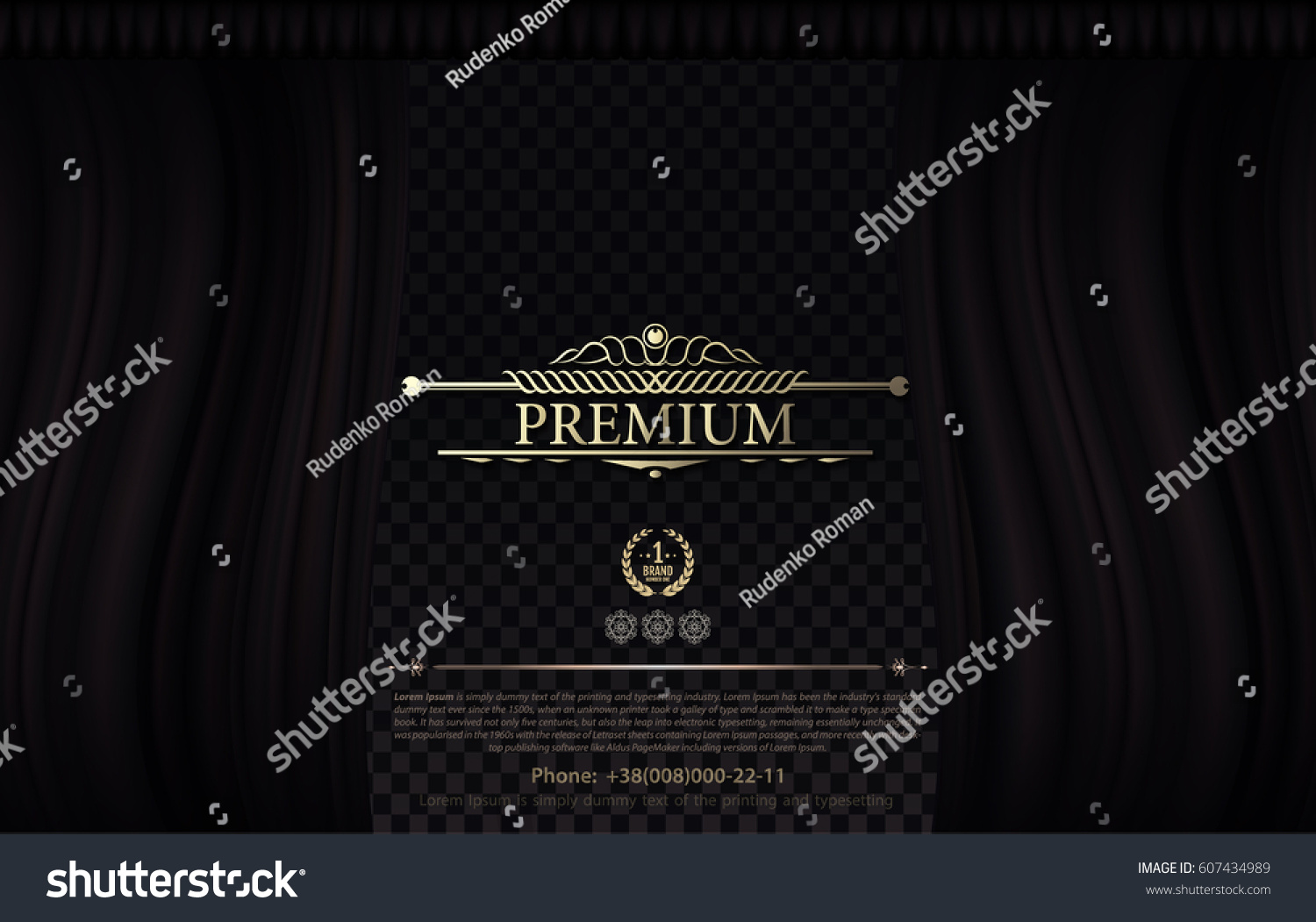 Black theatre curtain - Premium Vintage Yellow Symbol On Black Wave Curtain Vector Theatre Curtain With Transparent Backdrop And