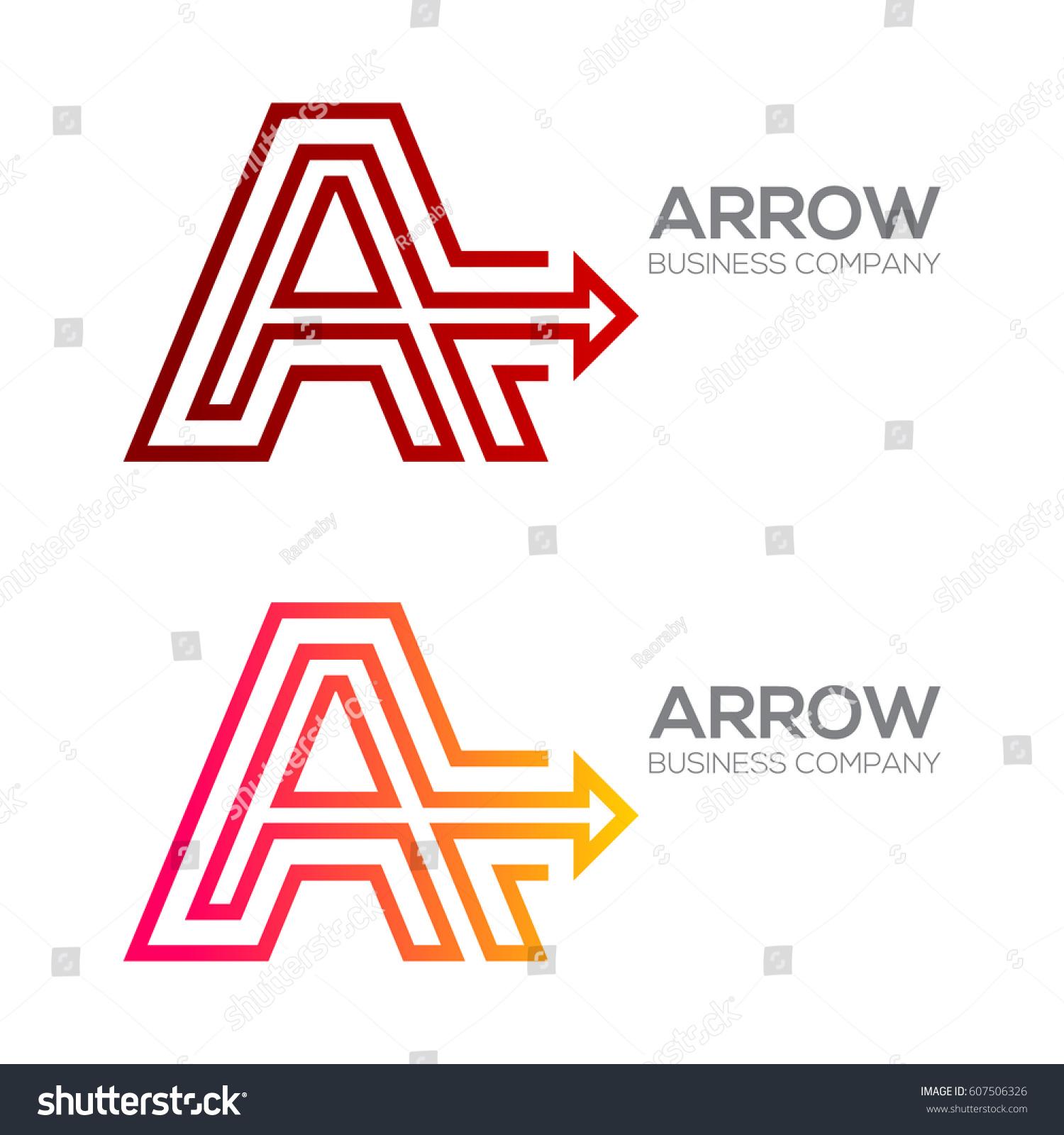 Letter arrow finance business moving forward stock vector 607506326 letter a with arrow finance business moving forward logotype thecheapjerseys Gallery