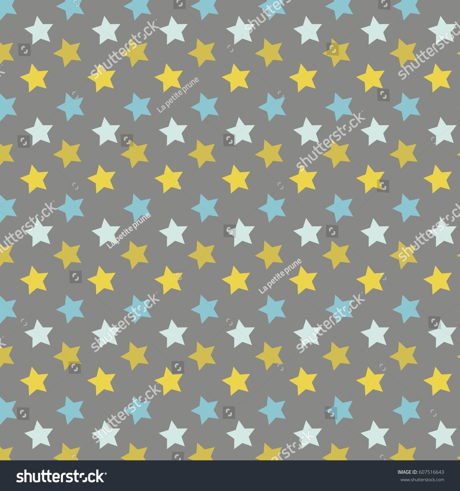 Yellow Blue Stars Background Baby Shower Stock Vector Royalty Free