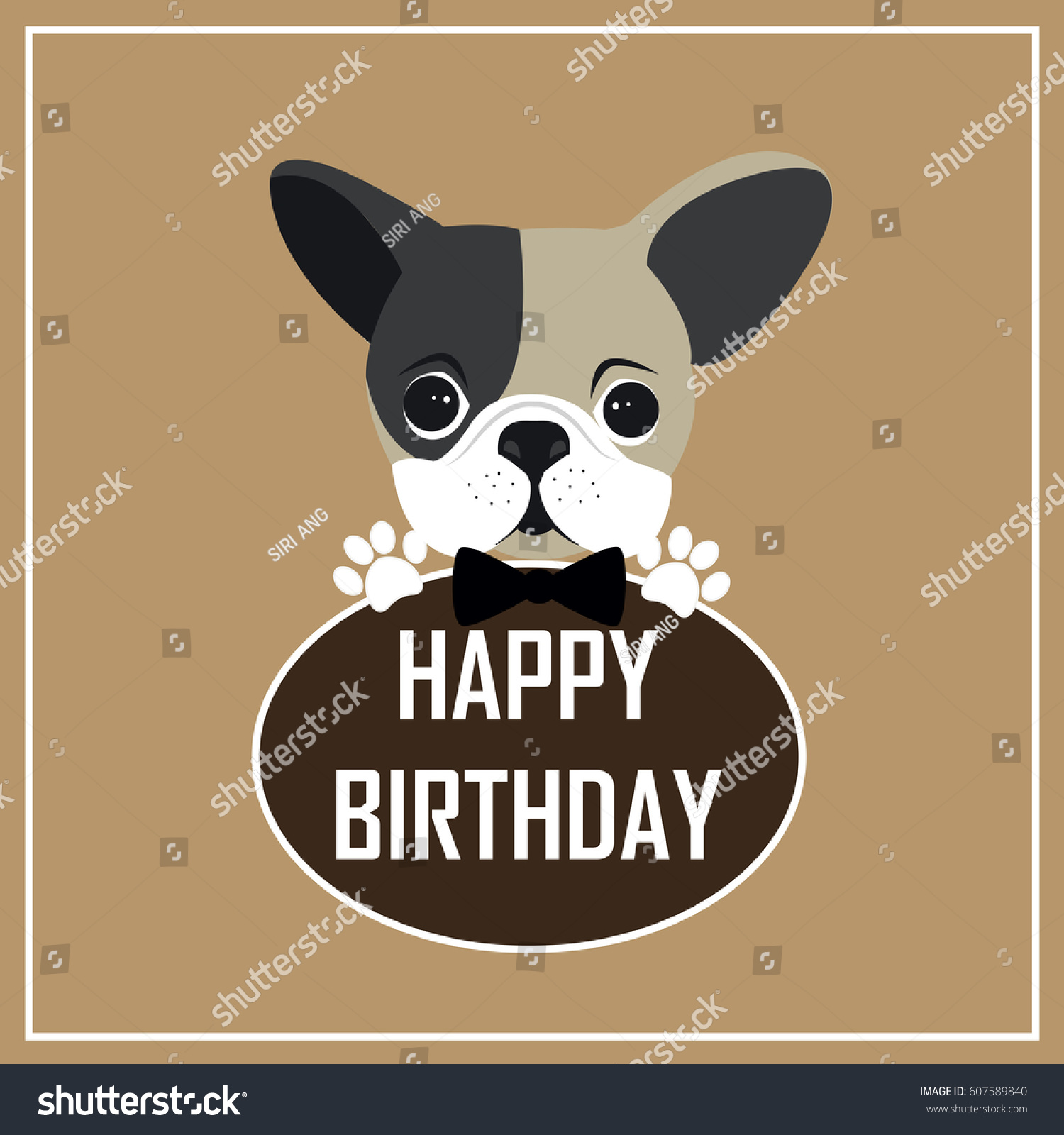 Happy birthday greeting cardcute dog cartoon stock vector happy birthday greeting cardte dog cartoon kristyandbryce Choice Image