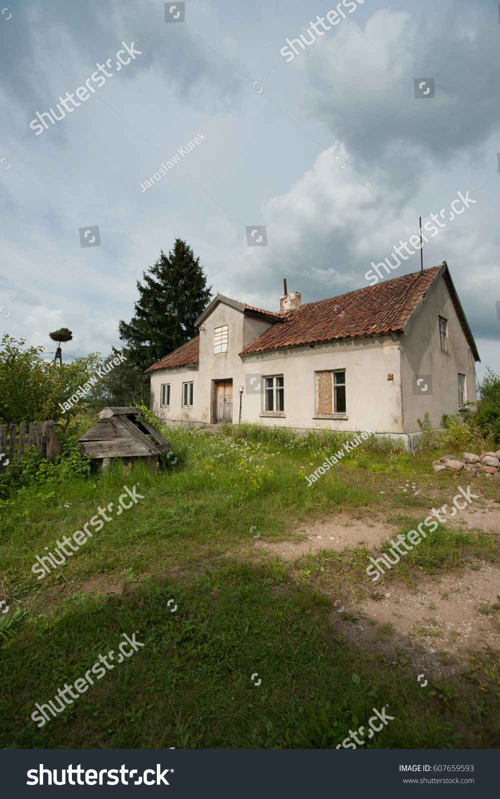 German Colonial House From The Plebiscite Period In Warmia Masuria And Powile