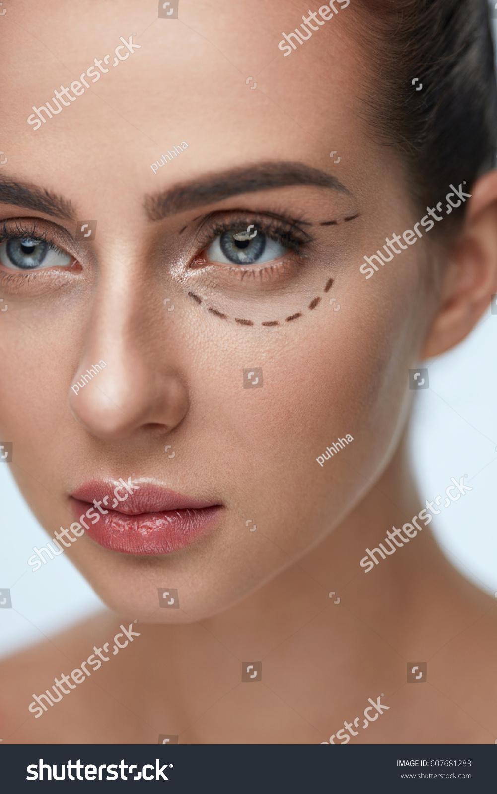 Plastic Surgery Operation Closeup Beautiful Young Stock Photo Edit