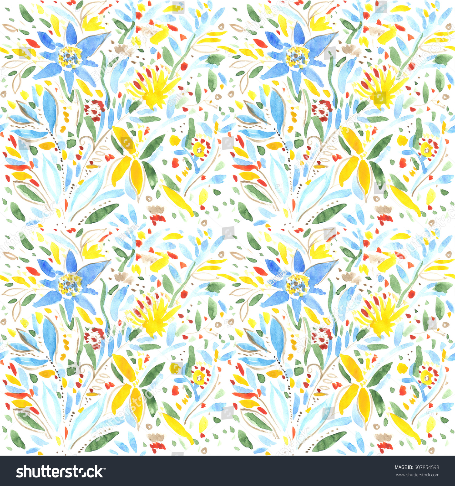 Abstract Spring Summer Flowers Wallpapers Seamless Floral Illustration