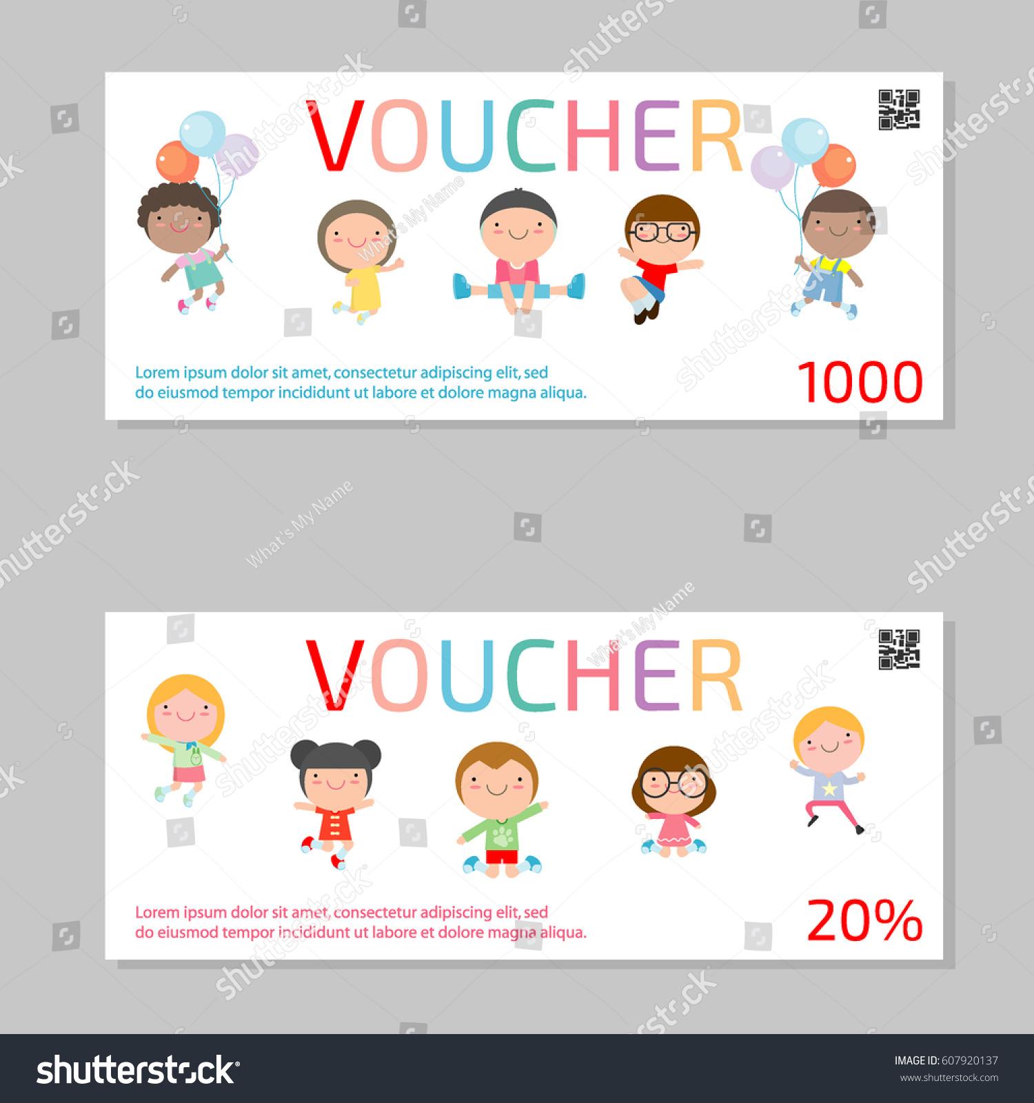 Gift Voucher Template Kids Voucher Template Stock Vector 607920137 ...