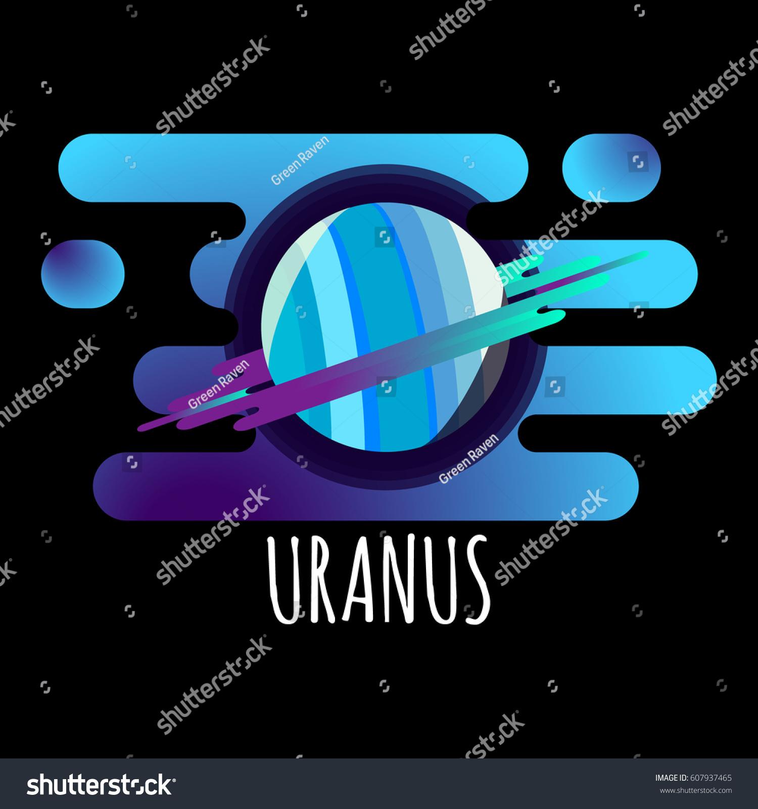 Vector Illustration Uranus Planet Flat Designed Stock Photo Photo