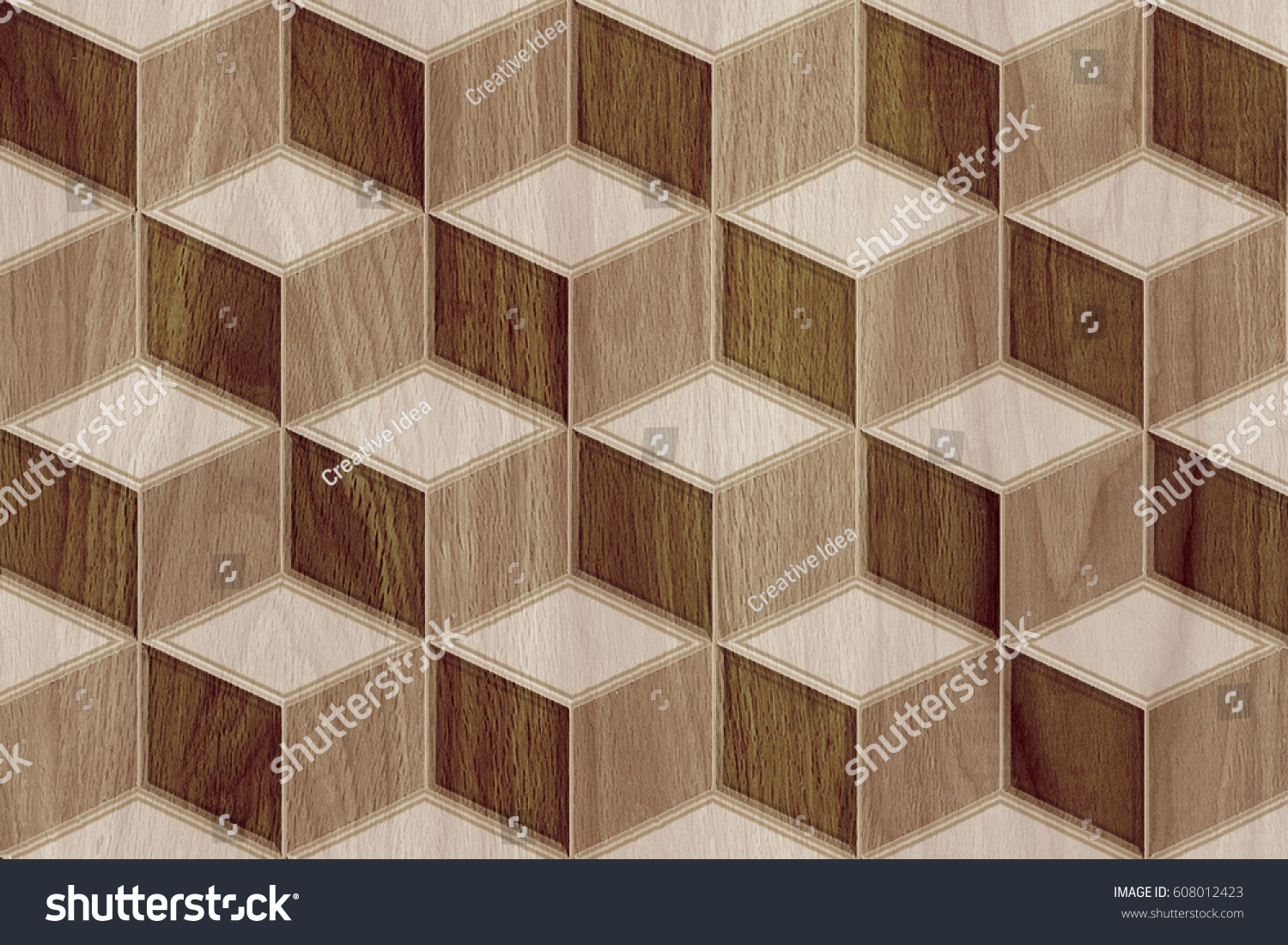 Abstract Home Decorative Wooden Wall Tiles Design Background,