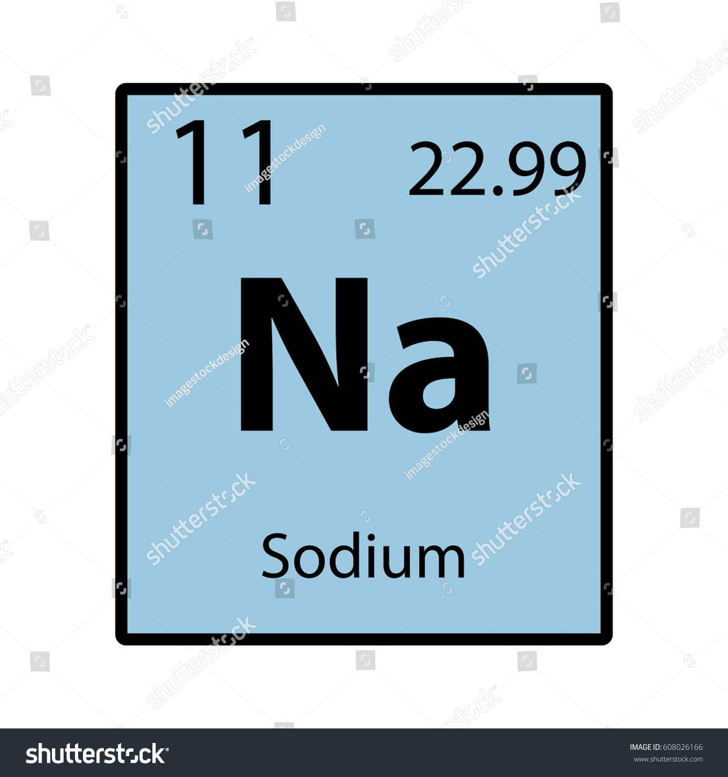 Sodium Periodic Table Element Color Icon Stock Vector Royalty Free