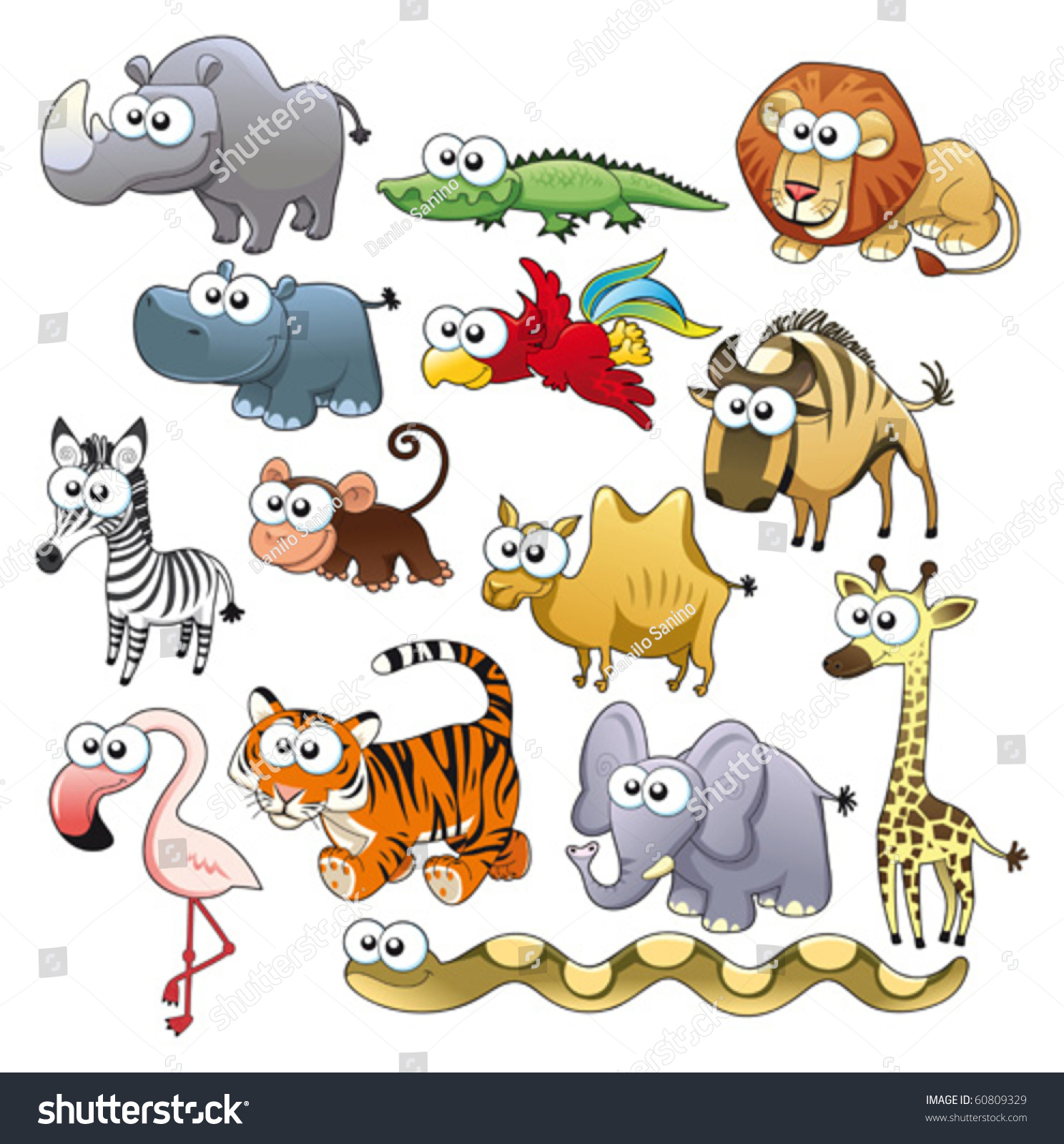 savannah animal family funny cartoon and vector. Black Bedroom Furniture Sets. Home Design Ideas