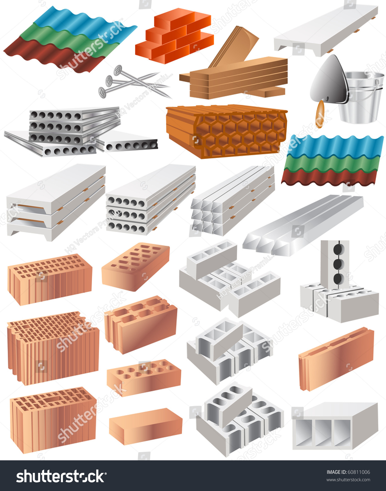 Building material stock vector illustration 60811006 for I 10 building materials