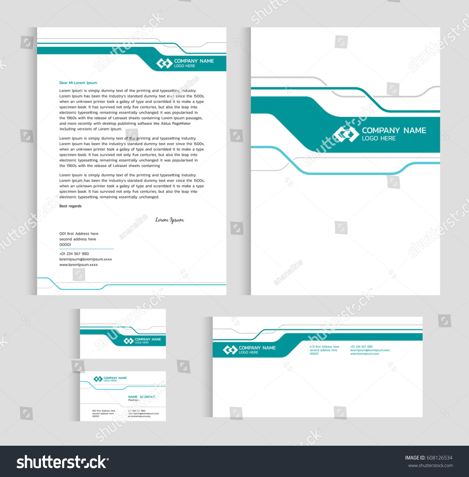 Layout template size a4 cover page stock vector 608126534 layout template size a4 cover page business card and letter green line sharp abstract magicingreecefo Gallery