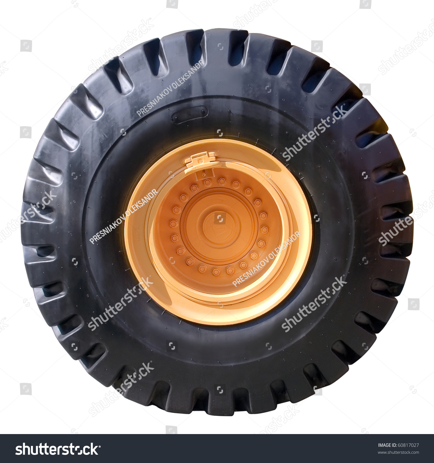 Tractor tire on white background isolated with paths for Big tractor tires for free