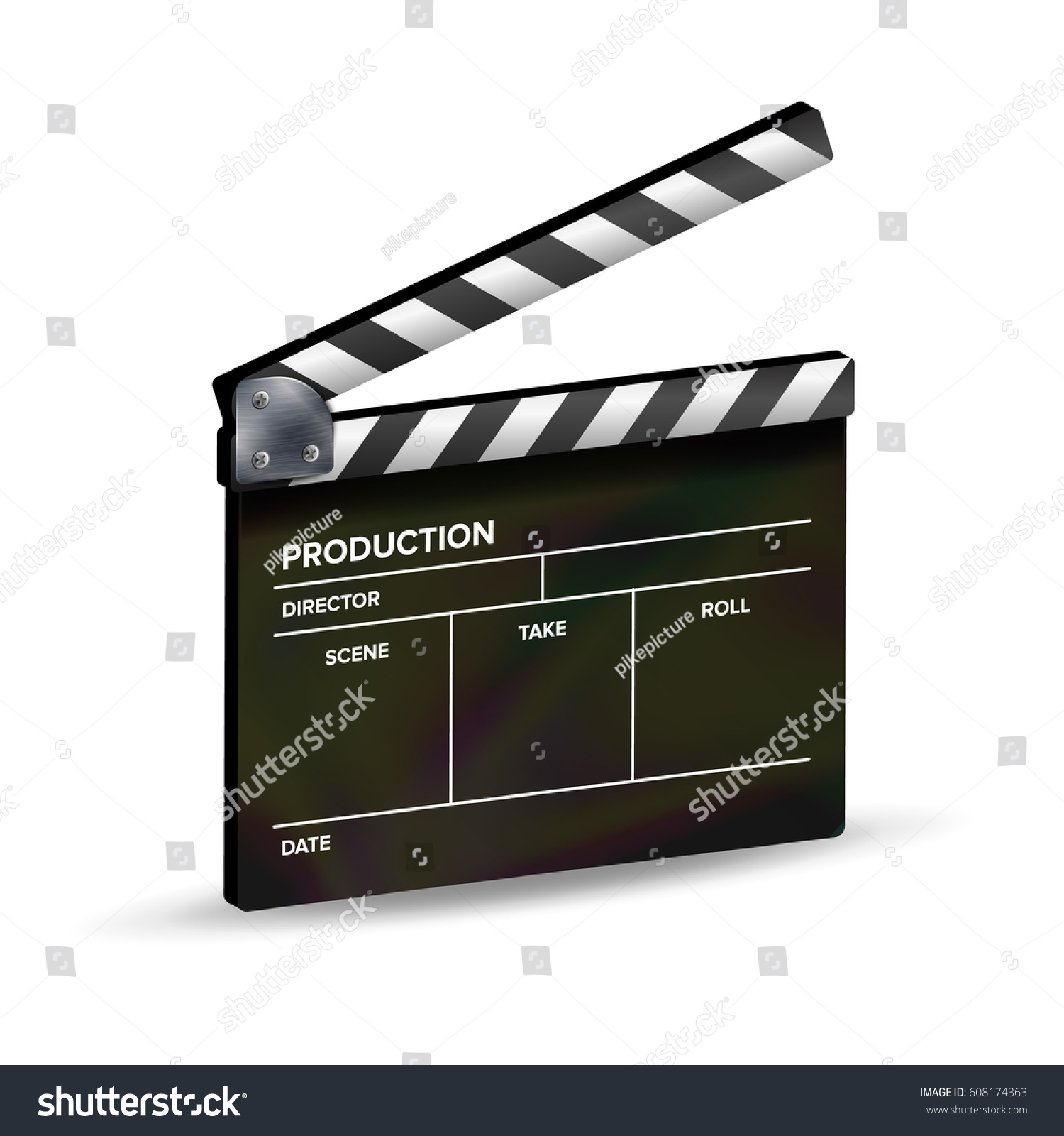 clapper board vector template clapboard movie stock vector, Powerpoint templates