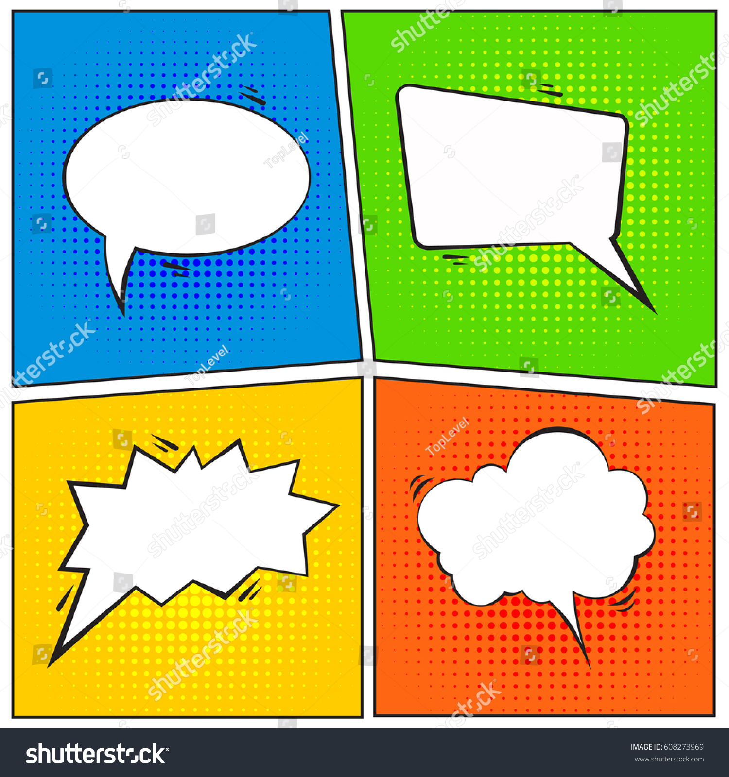 comic speech bubbles on grunge background stock vector 608273969 rh shutterstock com grunge background vector template grunge vector background illustrator