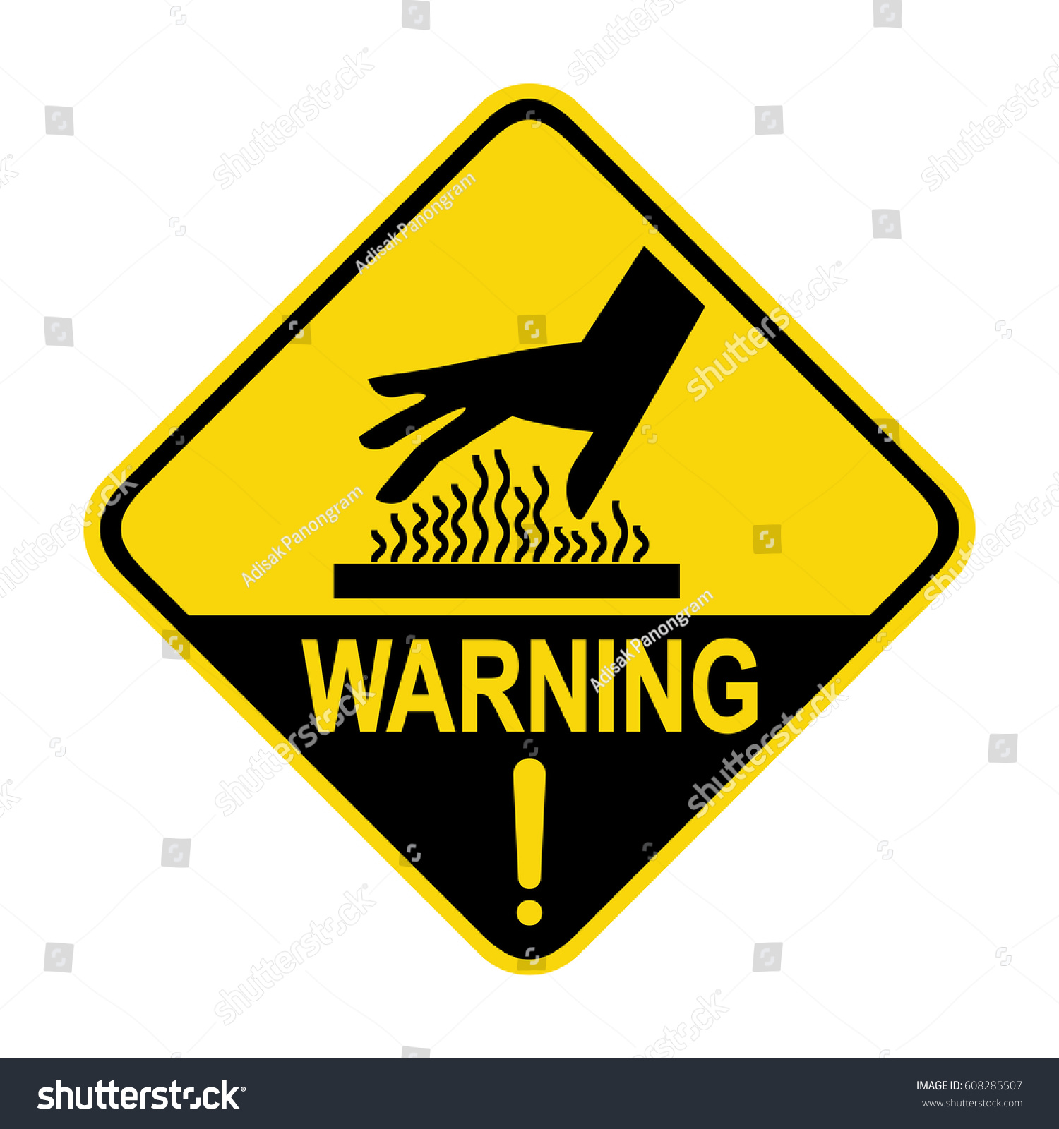 Warning hot surface sign symbol illustration stock vector warning hot surface sign symbol illustration buycottarizona Image collections