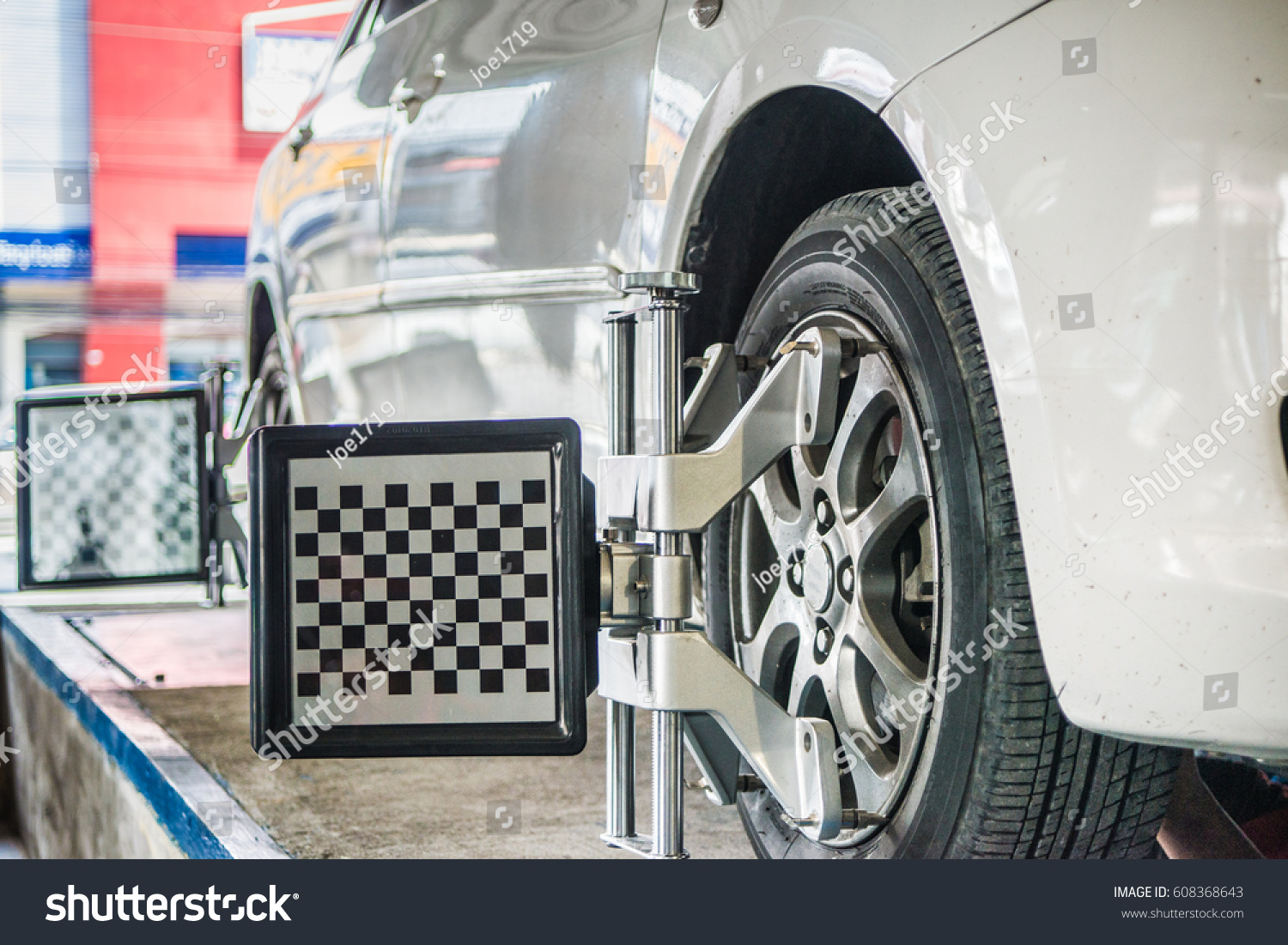 Alignment And Balancing >> Check Wheel Alignment Balancing Car Stock Photo Edit Now