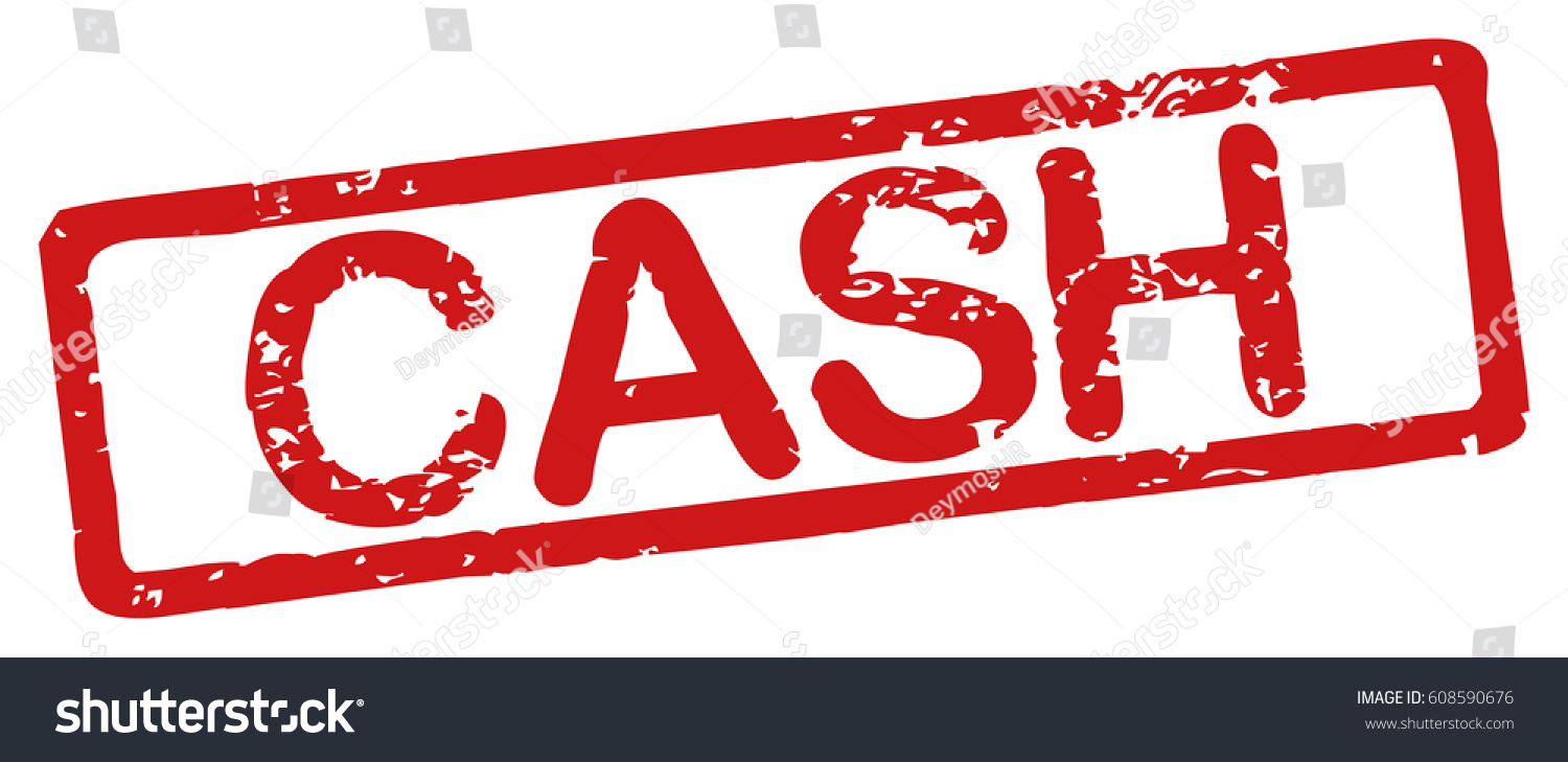 stamp word cash grunge style on stock vector royalty free
