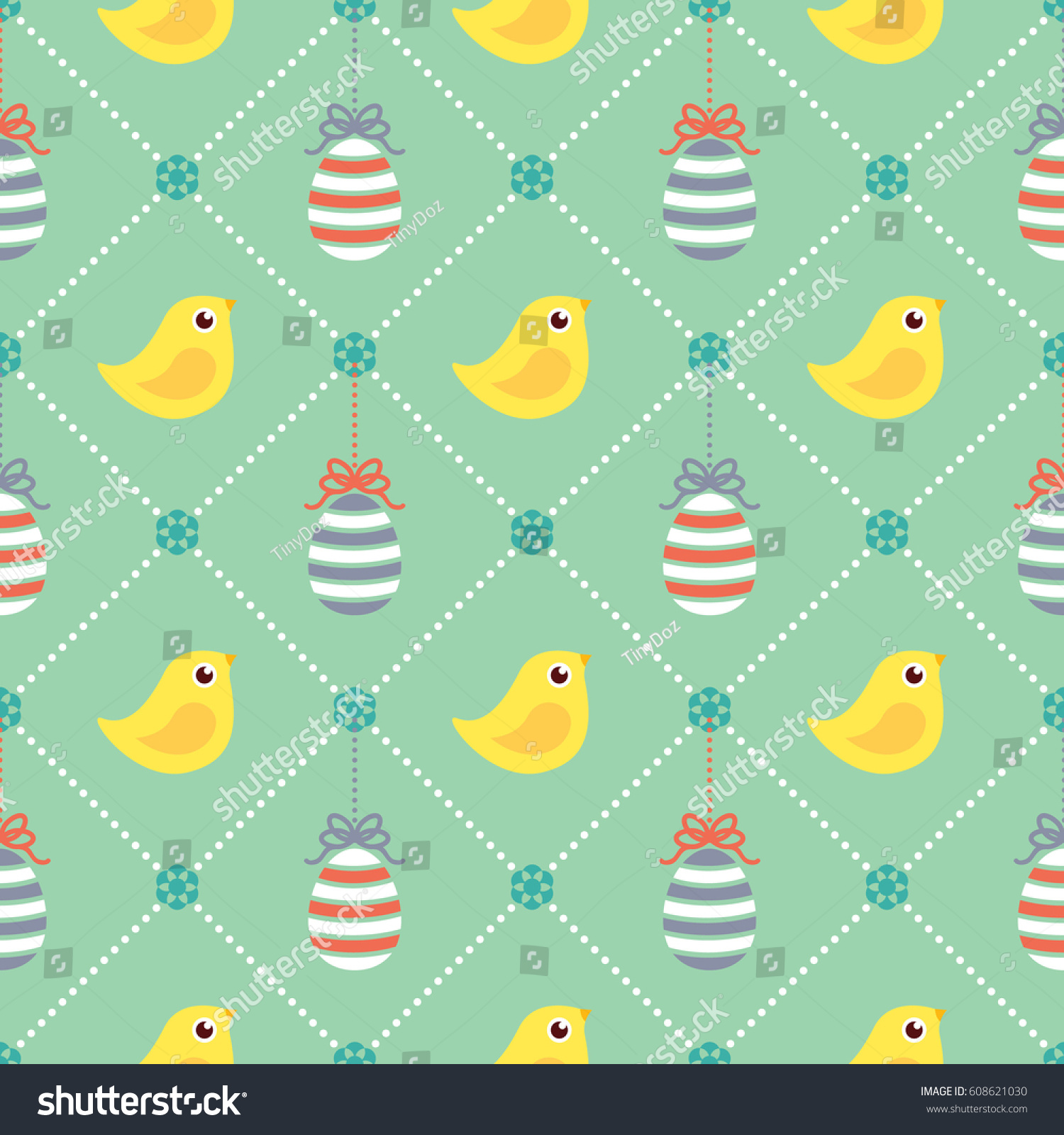 Easter Pattern Wrapping Paper Scrapbook Print Stock Vector Royalty