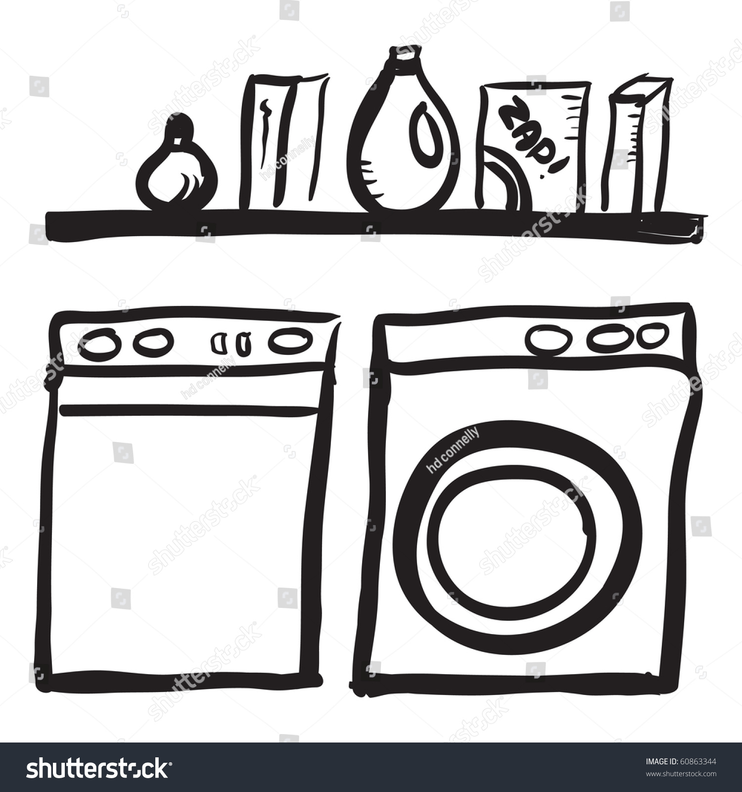 Laundry Clip Art Black And White