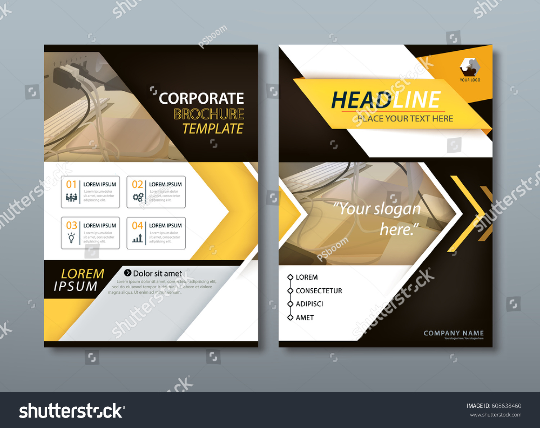Annual Report Brochure Flyer Design Template Stock Vector HD ...