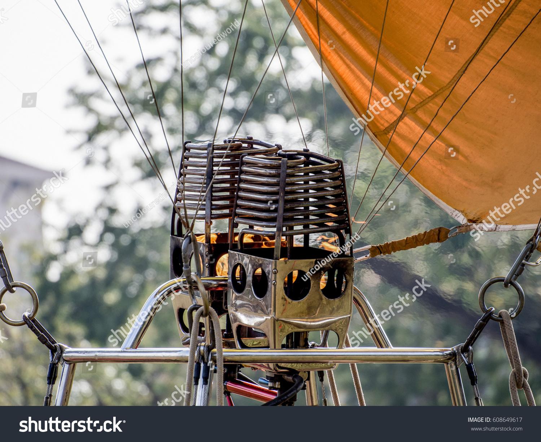 Hot Air Balloon Burners Stock Photo (Royalty Free) 608649617 ...