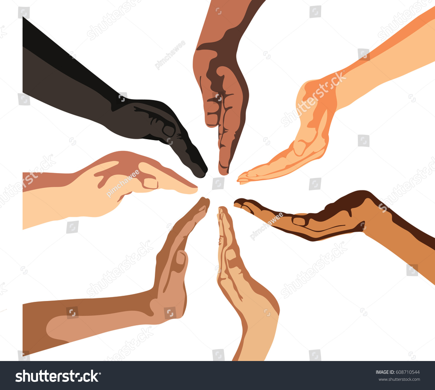 Silhouette vector human hands symbol protection stock vector silhouette vector of human hands symbol of protection on white background biocorpaavc