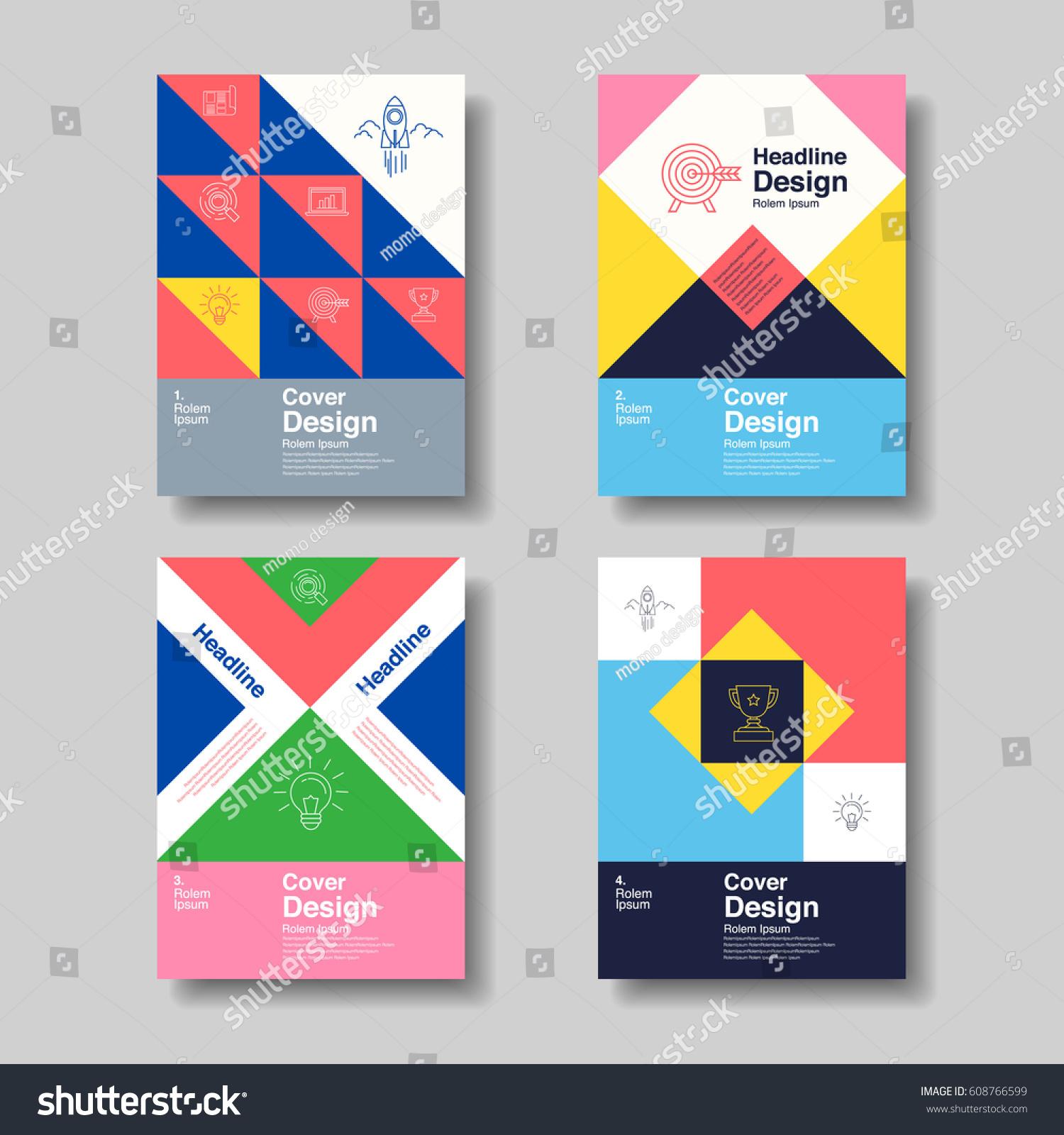 Layout Design Template Cover Book Flyer Stock-Vektorgrafik 608766599 ...