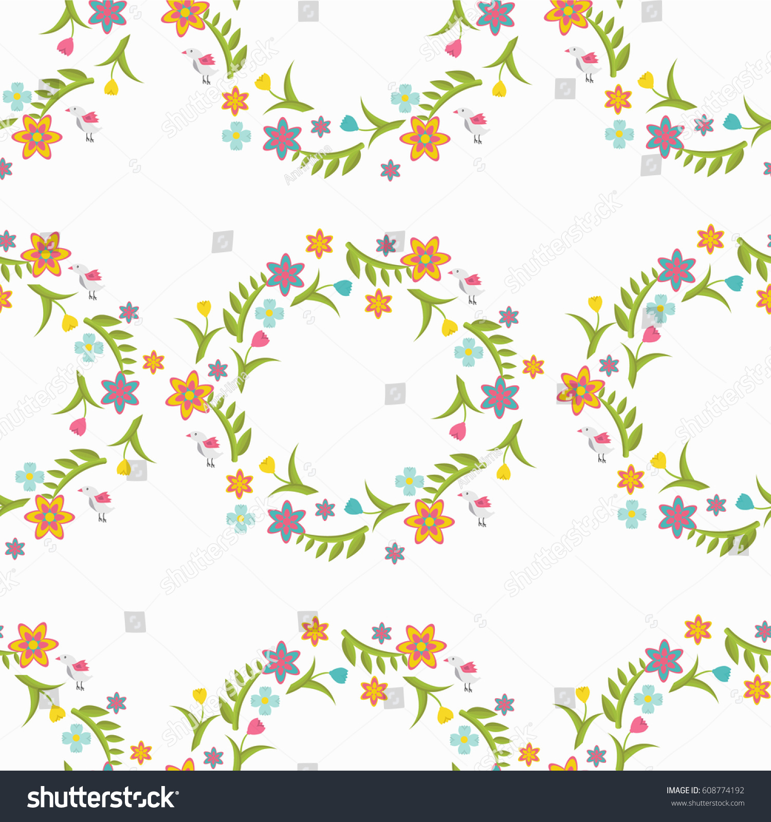 Cute Book Cover Background ~ Seamless cute pattern small flowers floral stock vector