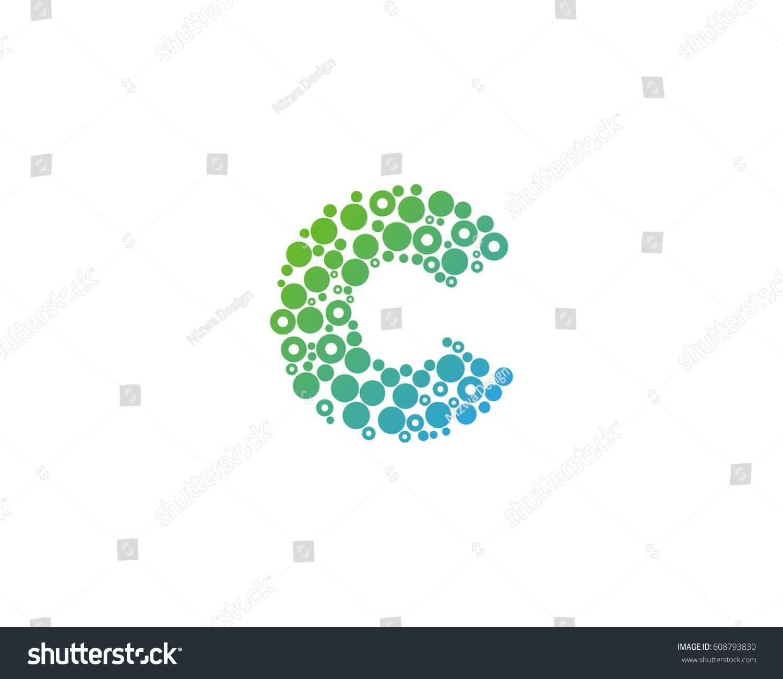 Letter c dot circle bubble logo stock vector 608793830 shutterstock letter c dot circle bubble logo design element biocorpaavc Images