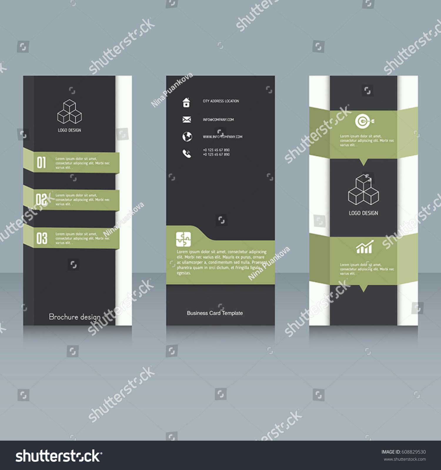 brochure booklet brochure designs easy adapt stock vector