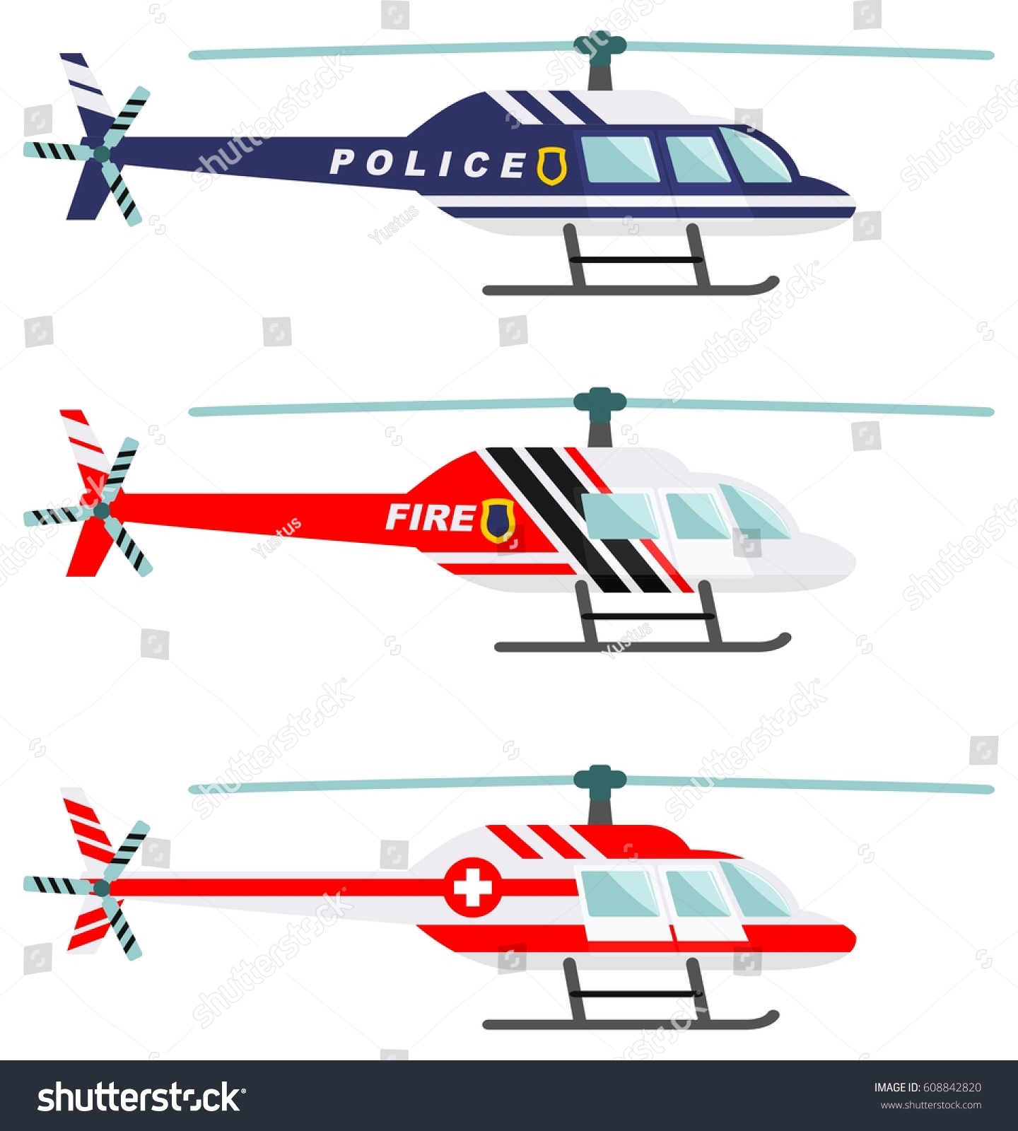 emergency concept detailed illustration firefighter doctor stock