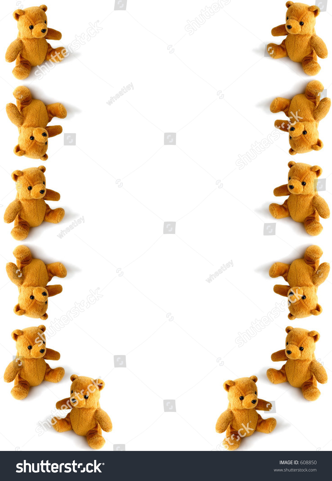 Tumbling Teddy Border Stock Photo 608850 : Shutterstock