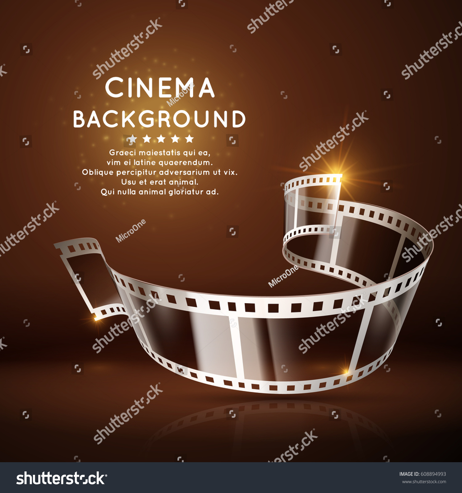vector movie poster film 35 mm roll stock vector royalty free